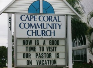Church sign funny