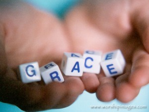 grace, open hand, free gift, blocks, God, Christian