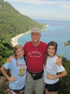 Wayne (and 2 of his granddaughters) on mission in the Dominican Republic