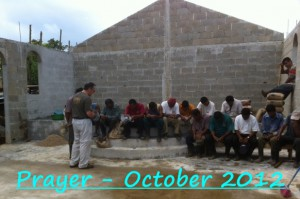 Prayer with Pastor Juan and men of Santa Teresa Baptist Church 2