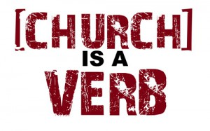 church verb