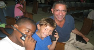Pastor David with boys at church in La Romana