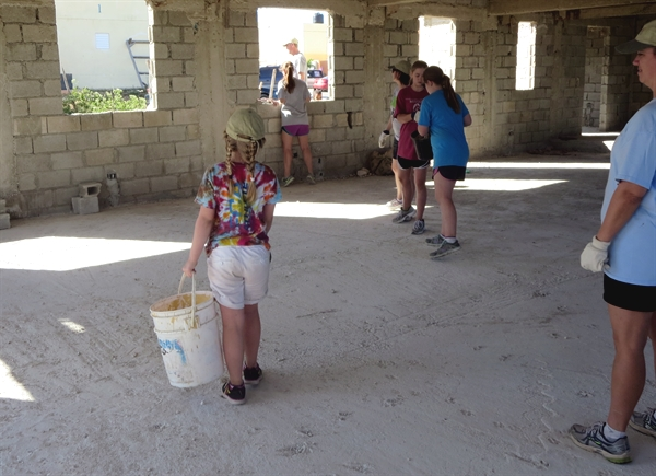 What did our youngest team member do? How did the empty buckets get back to the rock pile?
