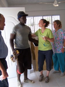 New believer introduced to La Romana team.