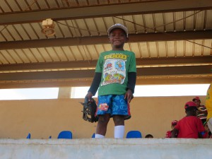 One of our youngest and cutest baseball campers!