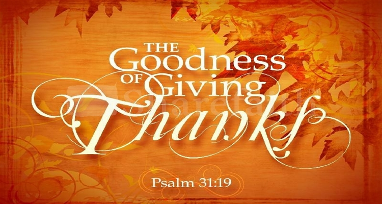 Thanksgiving Psalm 31A