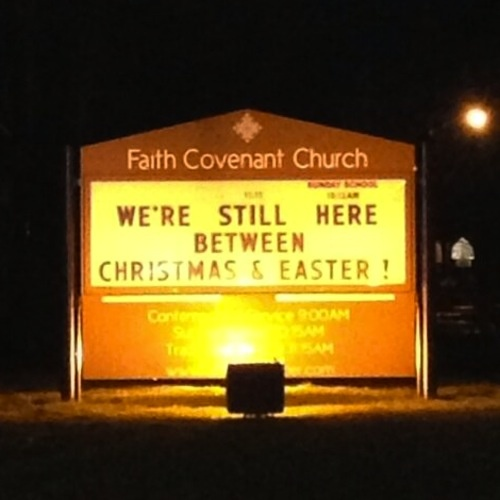 Church sign Christmas & Easter